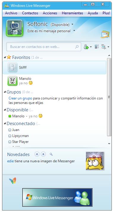 descargar messenger live en castellano: